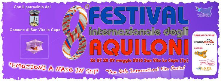 Kite International Festival in San Vito Lo Capo, Sicily, May, 26th-29th, 2016