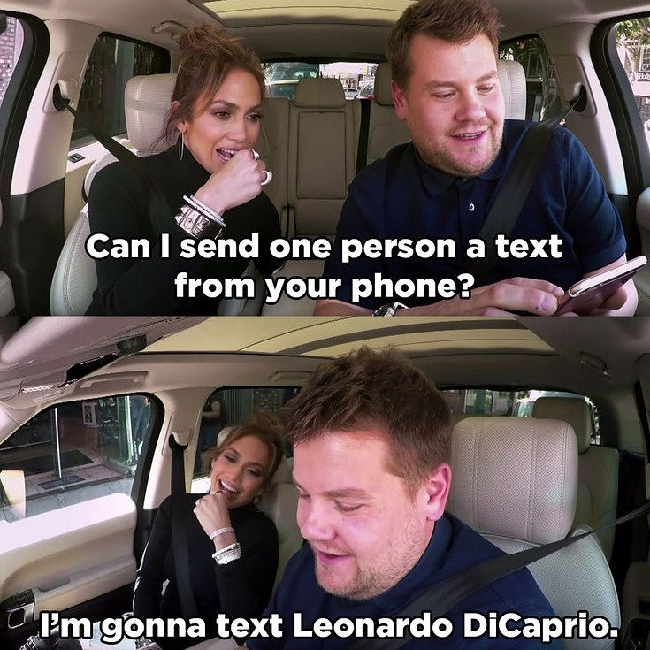 J.Lo And James Corden Prank-Texted Leonardo DiCaprio And It's Hilarious