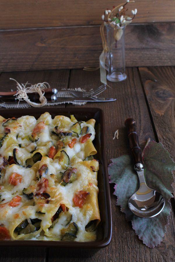Cannelloni senza glutine con zucchine e carote