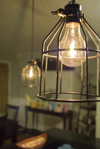 diy pendant light for under $11! love this!