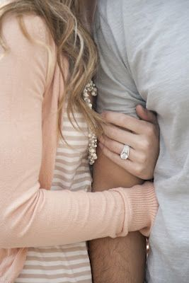 Beautiful shot of the engagement ring // Affectionate, but not over the top