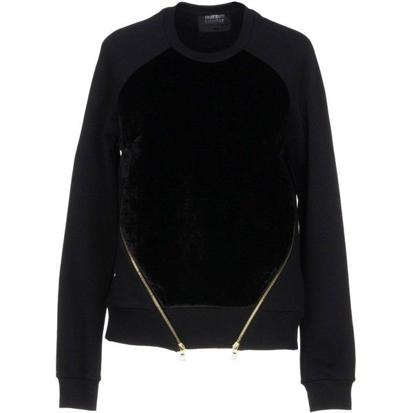 Markus Lupfer Sweatshirt (950 BRL) ❤ liked on Polyvore featuring tops, hoodies, sweatshirts, black, markus lupfer sweatshirt, velvet sweatshirt, long sleeve tops, long sleeve sweatshirts and velvet long sleeve top