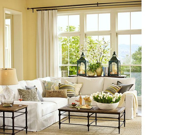 Best Pottery Barn Living Room Decorating Ideas Pictures - Interior ...