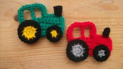Free Crochet Tractor Applique | Details about hand crochet tractor applique boy car motif embellish