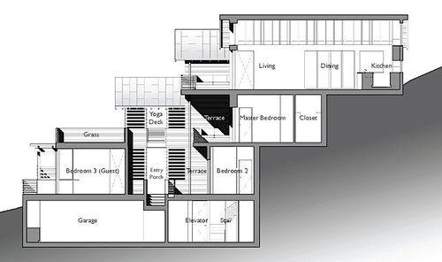 Hillside-house-building-section