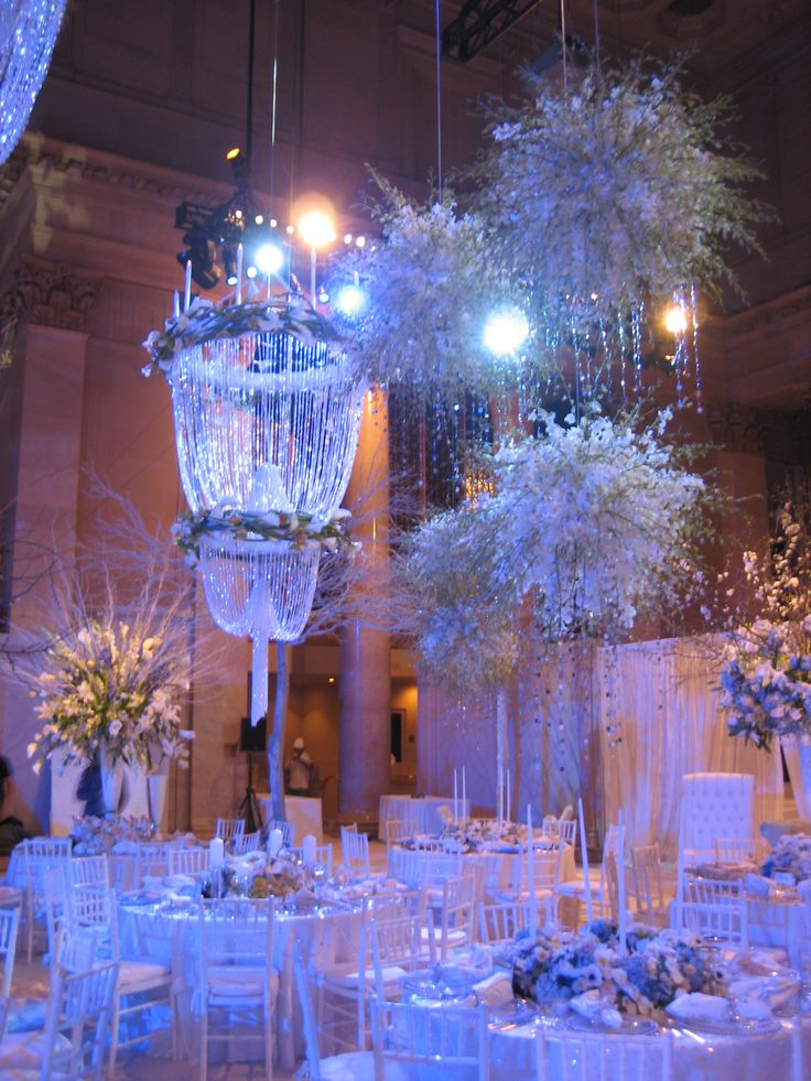 I Pinned This To Show You Scale And Craziness But For Those Who Have It A Big High Ceiling Find Pin More On Winter Wonderland Weddings
