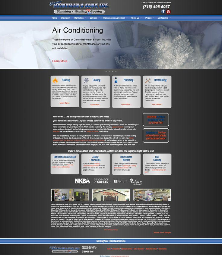 Danny Heineman & Sons, Inc - Sardinia, NY plumbing, heating and air conditioning HVAC website custom design and marketing through Online-Access, Inc.  Company website: http://www.dannyheineman.com/
