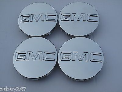 4 - Gmc Sierra Yukon Denali Chrome Center Caps 9595759 For 18 20 22 24 Wheel Rim #car #truck #parts #wheels, #tires #wheel #center #caps #c5326