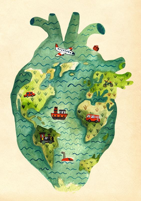 THINGS THAT FIT INSIDE A HEART - aitch - I love travelling <3