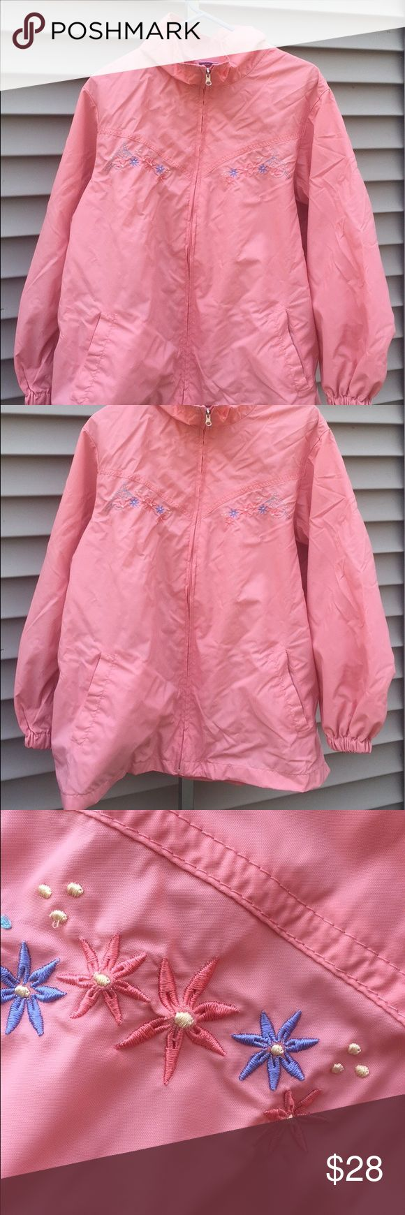 Blair Lightweight Pink Windbreaker Jacket w Floral Super cute. Great lightweight jacket. Adorable embroidery. Tagged XL.   #pink #floral #embroidery #embroidered #flowers #jacket #coat #windbreaker #jackets #coats #windbreakers #xl #extralarge #babypink #hipster #tumblr #grunge #vintagefeel #fashion #cool #cheap #bundlediscount #palepink #babypink #colorful #betweenseasons #lightweight #lightweightjacket 💥30% off all bundles💥 Jackets & Coats