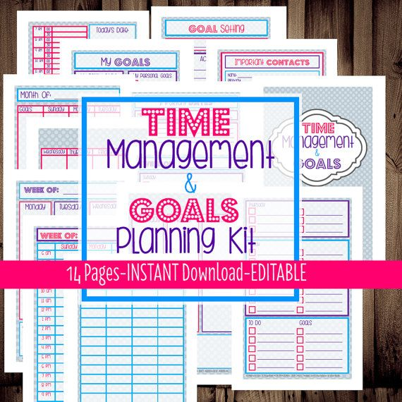 Weekly Goals Calendar : A filofax inserts daily page weekly pages monthly