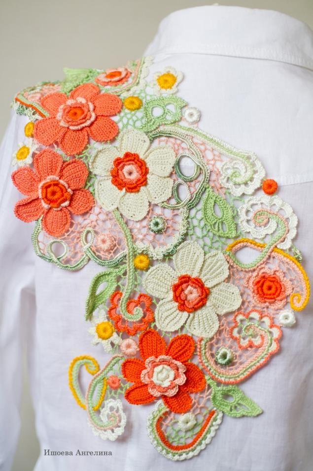 Цветной кружевной декор - Ярмарка Мастеров - ручная работа, handmade