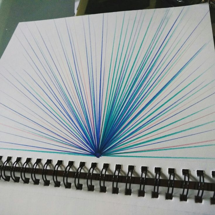 Unique and Colourful page of marker art