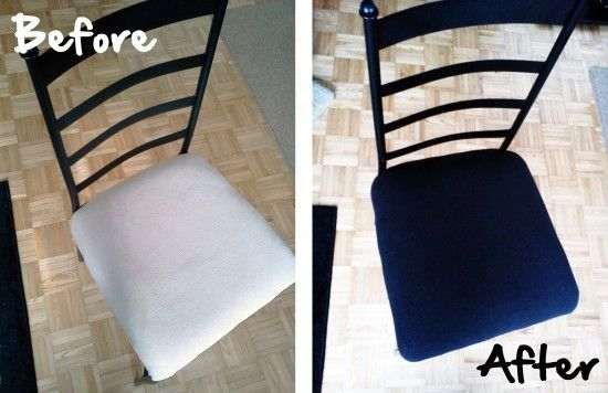 A photo guide on reupholstering metal-framed chairs   Offbeat Home  I actually have these exact same chairs!  Result--used goodwill curtains to recover 4 kitchen chairs. THEY LOOK AWESOME