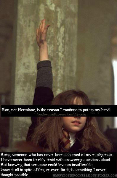I love the idea of smart Hermione as a heroine.  : Idea