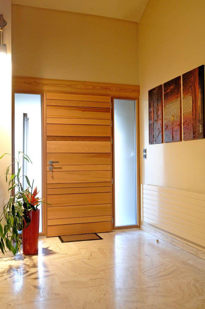 Porte d'entrée Zilten Nativ 1, red cedar, vue intérieure