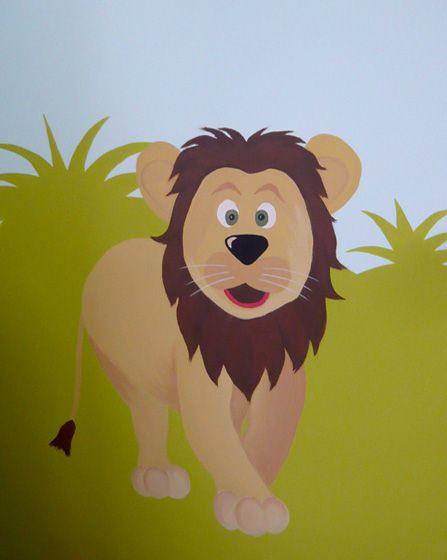 Λιοντάρι. Λεπτομέρεια ζωγραφικής τοίχου σε βρεφικό δωμάτιο ζούγκλα. Δείτε περισσότερες ιδέες διακόσμησης για το παιδικό ή βρεφικό δωμάτιο στη σελίδα μας  www.artease.gr