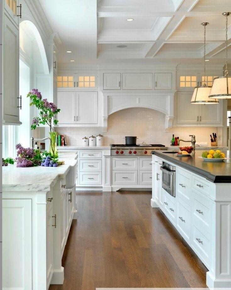 Jan Gleysteen Architects, Inc kitchens | Via ||The Chicest Chicks|| Ben Moore Mountain peak white