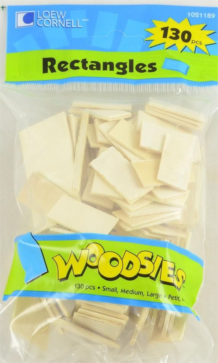 Unfinished wood craft products - M01397 Rectangular Woodsies Wood Cutouts Package Of 130 Wood Craft Supplieswood Cutoutsunfinished