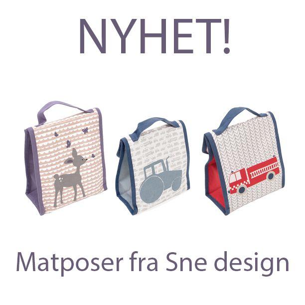 Nyhet! Vi selger nå sne design lunsjvesker på www.lillemeg.no