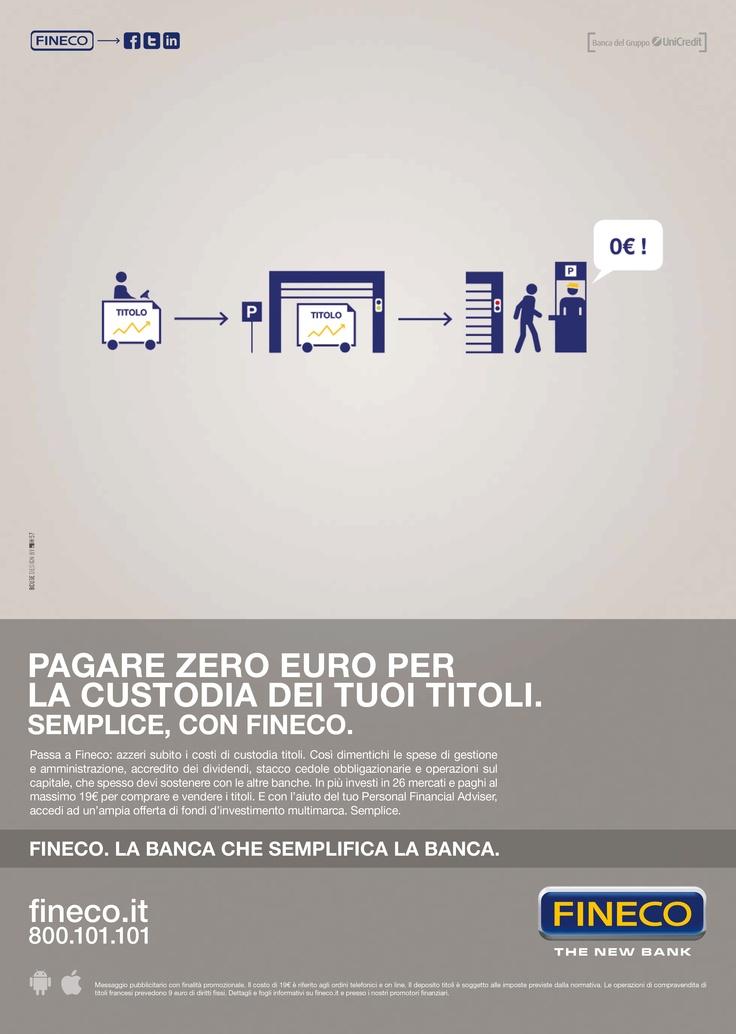 Pagare Zero Euro per la custodia dei tuoi titoli.  Semplice, con Fineco.