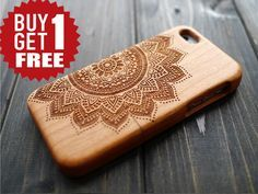 Cherry Wood Mandala iPhone 5s 5c Case Cover by BlessingCard