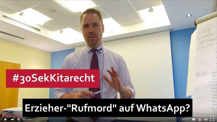 """#30SekKitarecht Folge 67 – """"Rufmord"""" auf Whatsapp gegen Erzieher...    Mehr dazu auf unserer Webseite ->"""