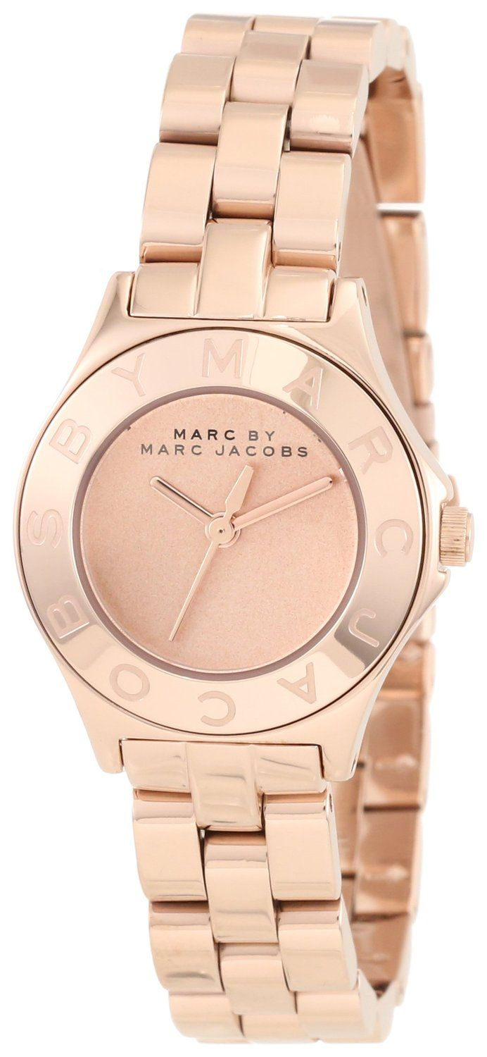 women's watches: women gold watches sale Marc by Marc Jacobs Women's MBM3132 Blade Rose Gold Watch