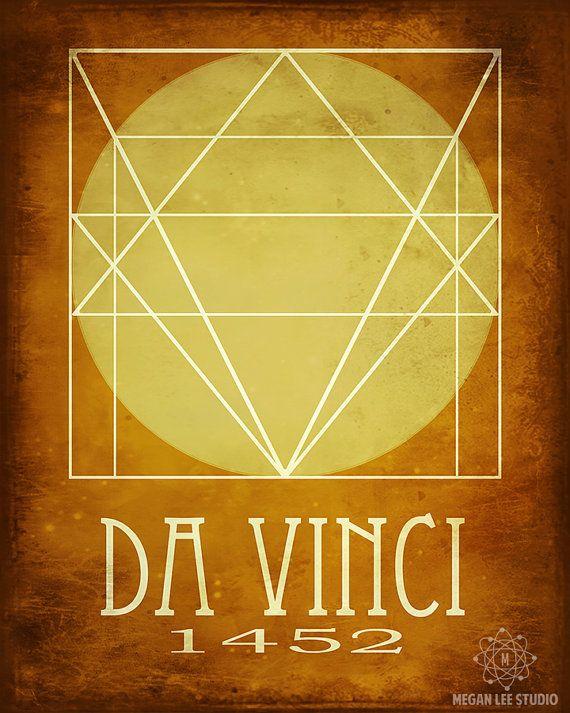 Da Vinci arte Poster 16 x 20 Rock Star científico por meganlee