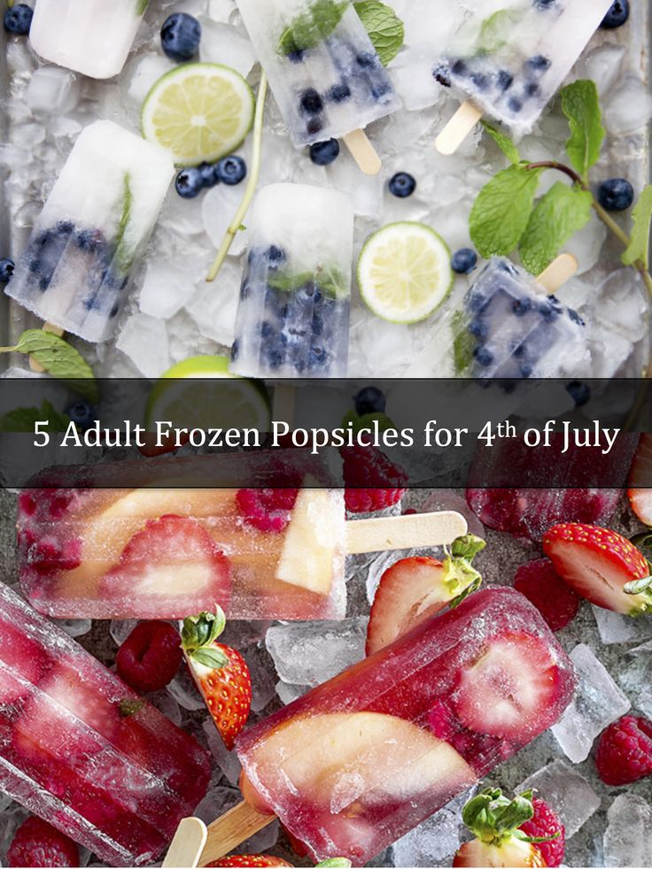 5 Adult Frozen Popsicles for the 4th of July - http://www.sofabfood.com/5-adult-frozen-popsicles-4th-july/ Be the life of the 4th of July celebration this year when you serve up theseadult frozen popsicles. Whether you're looking for fresh and fruity or creamy and decadent, you'll find what you want in this list of boozy concoctions!  With July just around the corner and July 4th ...