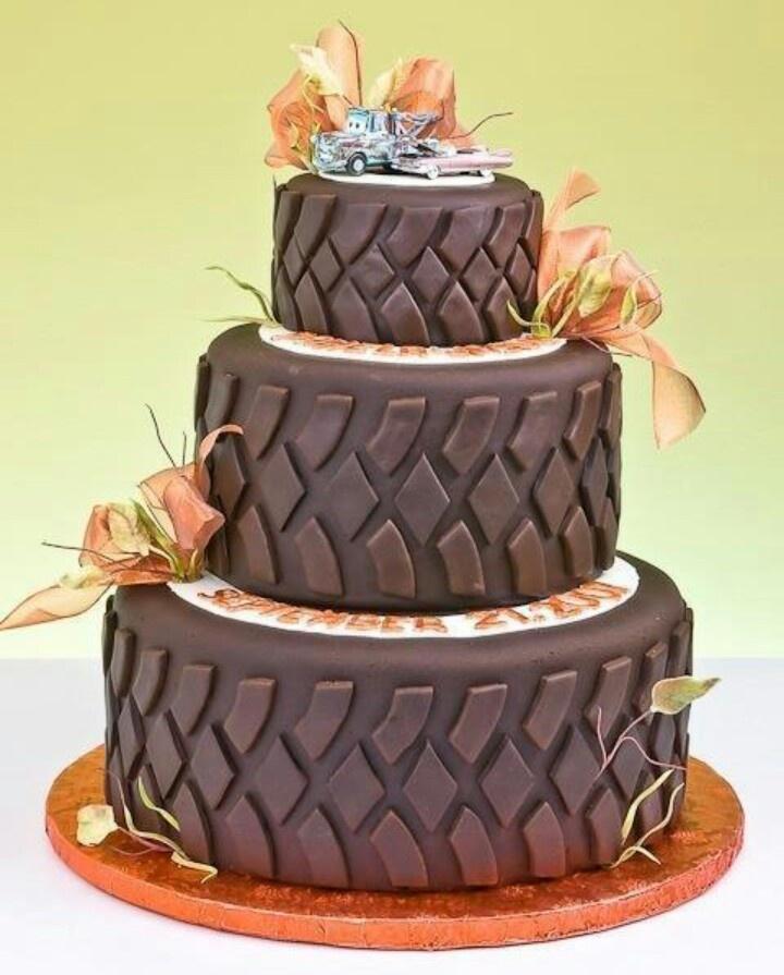 Mud Tire Tier Cake Cute Idea Michael Misc Pinterest