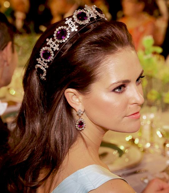 2012 Nobel Prize Awards and Banquet in the Queen Josephine Amethyst Tiara.