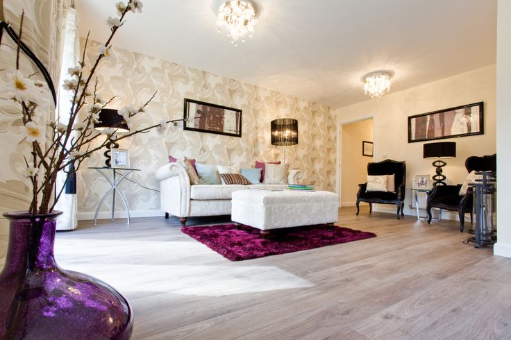 The living room in An Apartment at Marmaville Manor in Mirfield | Bovis Homes