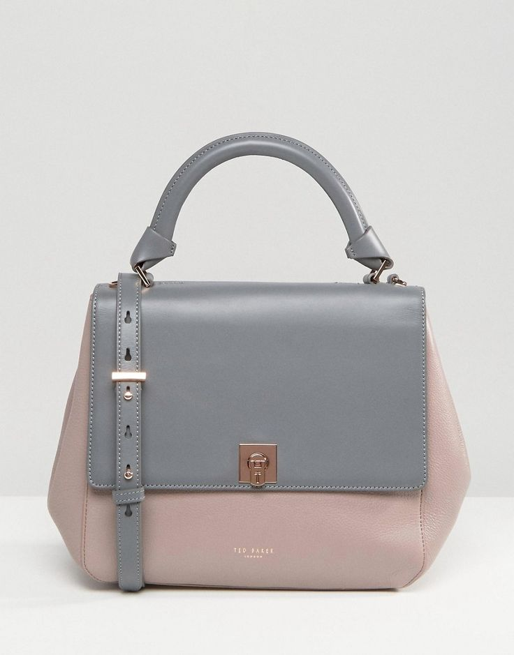 Ted Baker Leather Winged Tote Bag In Colour Block