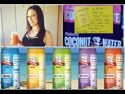 Amy and Brian's Coconut Water Review | GIVEAWAY (Open) Amy and Brian's Coconut Water amyandbriannaturals.com Correction Amy and Brian's Coconut Water come in 5 flavors all mentioned including lime. GIVEAWAY INFO 1 RANDOM WINNER US ONLY MUST BE 18 OR OLDER/PARENTAL CONSENT RULES/HOW TO ENTER MUST BE SUBSCRIBED TO MY CHANNEL MUST BE FOLLOWING COOK.NOURISH.REPEAT AND AMYANDBRIANSCOCONUTWATER ON INSTAGRAM LEAVE YOUR INSTAGRAM USERNAME IN THE COMMENT SECTION BELOW TO ENTER WINNER WILL BE…