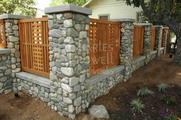 Stone Fence Pillars : Best images about stone pillars on pinterest entry