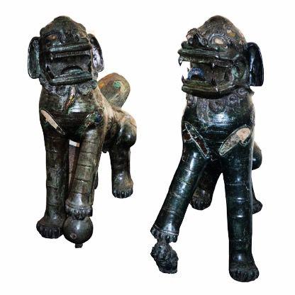 AMANHÃ às 20:30h Cia.Paulista de Leilões   www.IARREMATE.com  Par de raros caes de Fó de fino bronze trabalhado . China Séc XIX - 120 cm de alt e 113 de comp.  #caēsfó #China #chineses#escultura #dinastiafó #ciapaulistadeleiloes #oscarfreire #galeriadearte #antiquario #antiguidades #antiques #leilao #auctions #decor #art #arquitetura #iarremate #casacorsp #casavogue #voguebrasil #revistajp #folha #alpha #vejasp