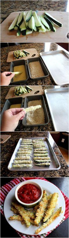 Croccanti al forno Zucchine fritte