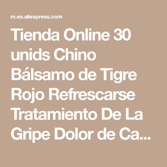 Tienda Online 30 unids Chino Bálsamo de Tigre Rojo Refrescarse Tratamiento De La Gripe Dolor de Cabeza Fría Mareos Muscle M assager Relajarse Aceite Esencial   Aliexpress móvil