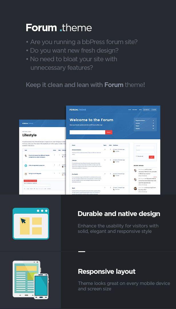 Forum - A responsive theme for bbPress plugin #responsive, #Forum
