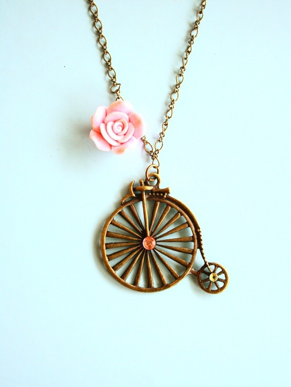 Fetch me with your old fashioned bicycle necklace - £15.70 by lepetitebonbon @Becky Hui Chan Hui Chan Jenner