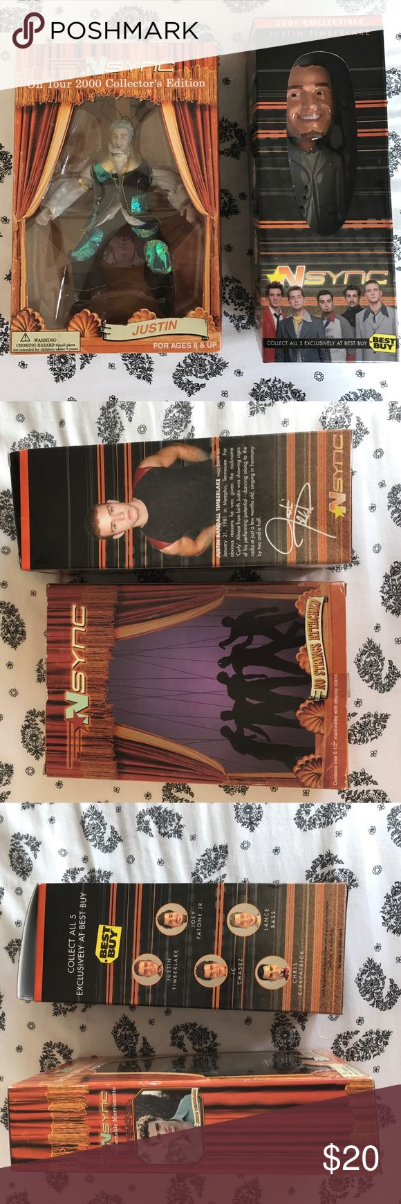 2 collectible *NSYNC Justin Timberlake dolls 2 brand new in package collectible Justin Timberlake dolls. Urban Outfitters Accessories