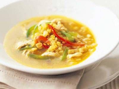 [雑穀と鶏のスープ カレー風味] 料理レシピ|みんなのきょうの料理