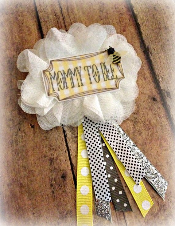 Mommy to Bee Baby Shower Badge - EllieKattCollection.Etsy.Com