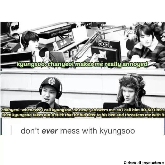 Don't mess with Kyungsoo | allkpop Meme Center