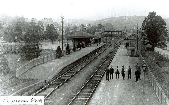 Plympton railway station early 1900s by derektait, via Flickr