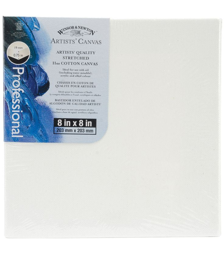 "Winsor & Newton Quality Stretched Canvas-8""X8"""