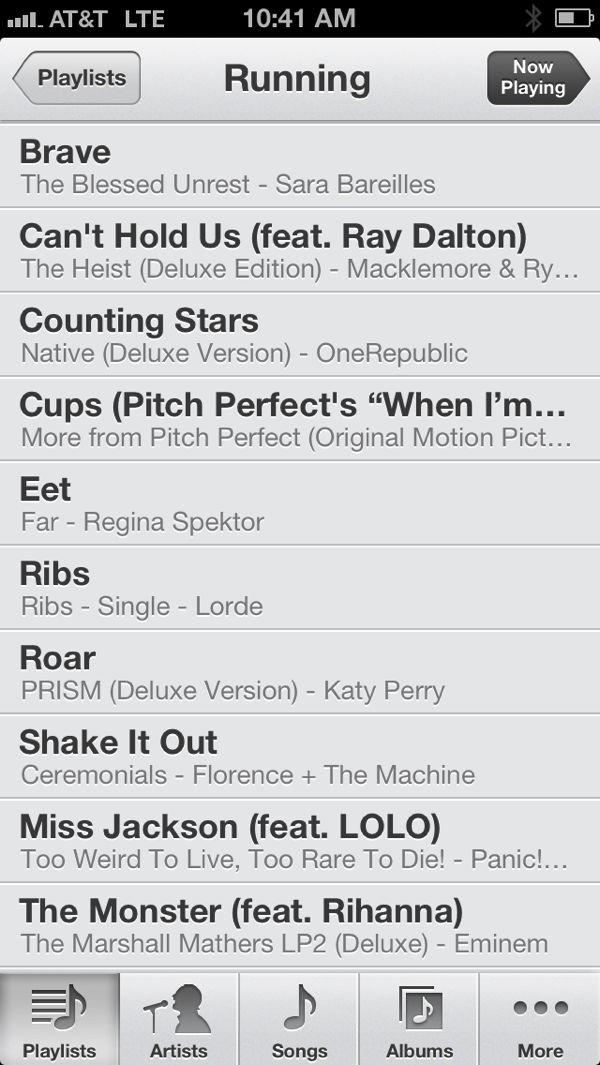Running playlist for Hungry Runner Girl