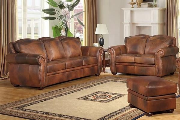 The Arizona Collection Is Upholstered In Luxurious Leather Throughout With Padded Front Sides And Leather Sofa And Loveseat Sofa And Loveseat Set Leather Sofa