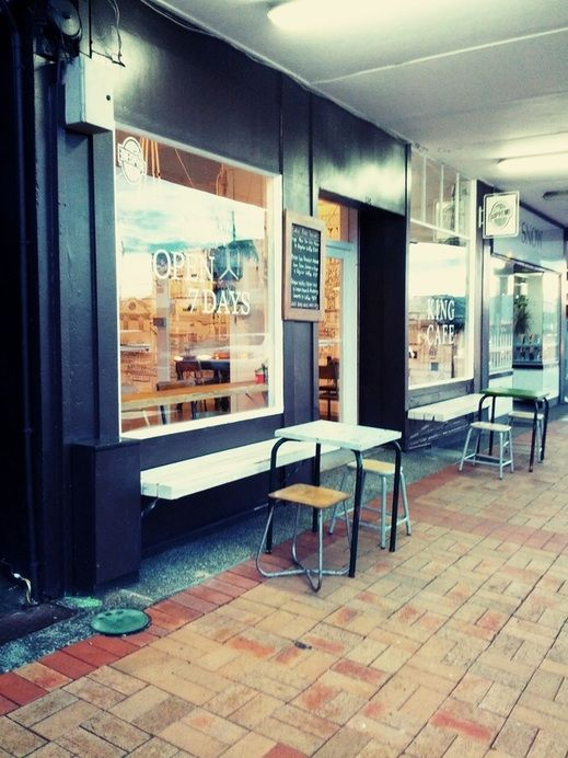 Cafe Street Side Design Shop Fitting